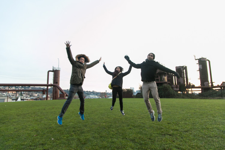 Hopping around at Gas Works Park!