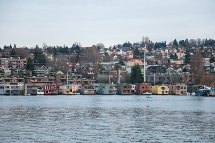 View of boat houses from Gas Works Park