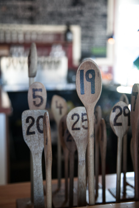Wooden spoon numbers at Lardo