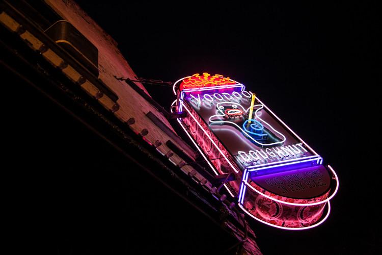 Voodoo Doughnut Neon Sign