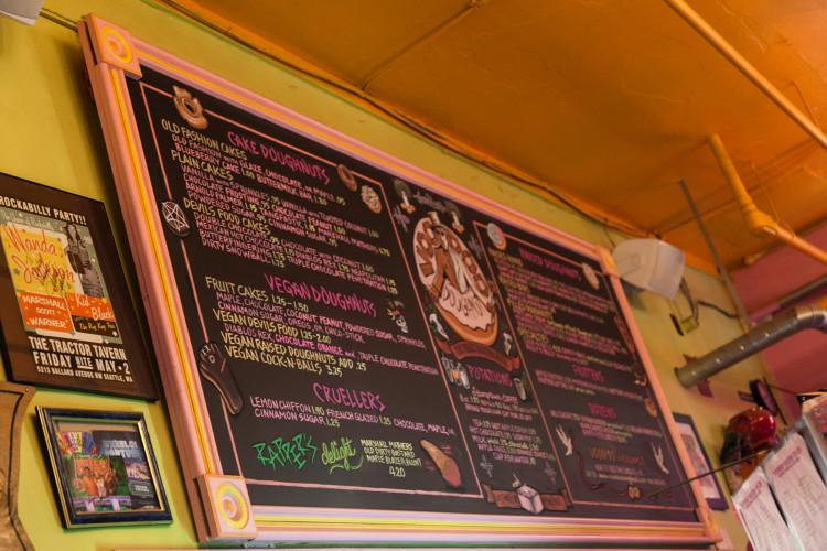 Voodoo Doughnut menu