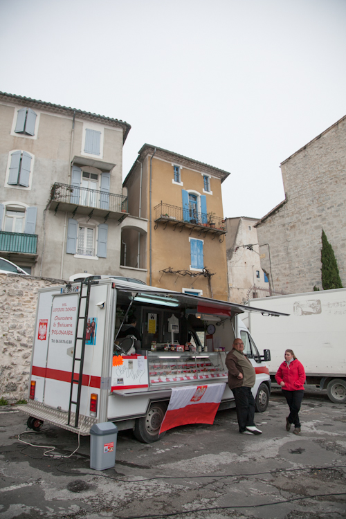 Truck at Anduze open market