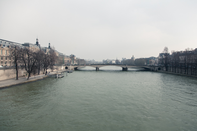 The Seine on a cloudy day