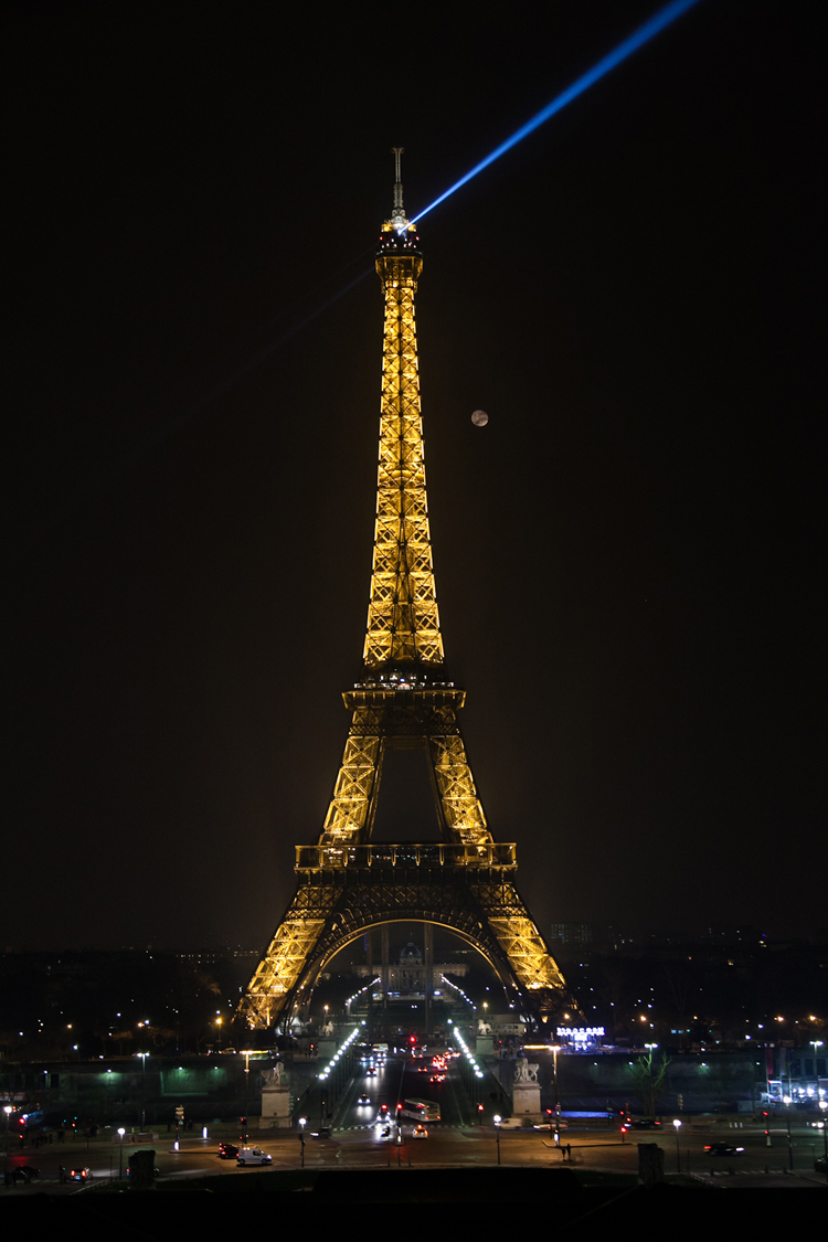 Tour Eiffel and moon
