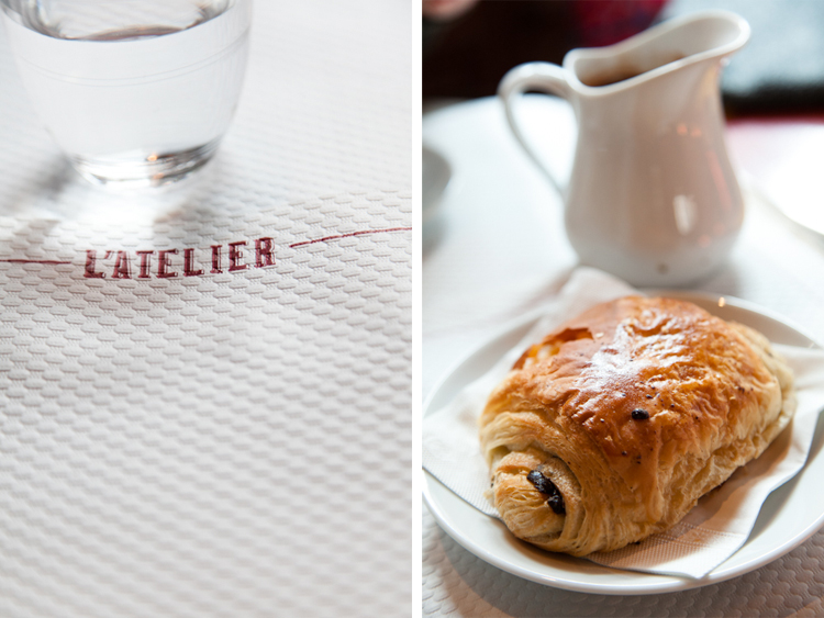 Pain au chocolat at Café L'Atelier