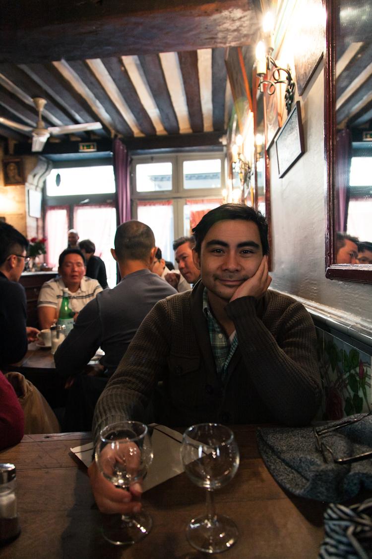 Tony inside the restaurant
