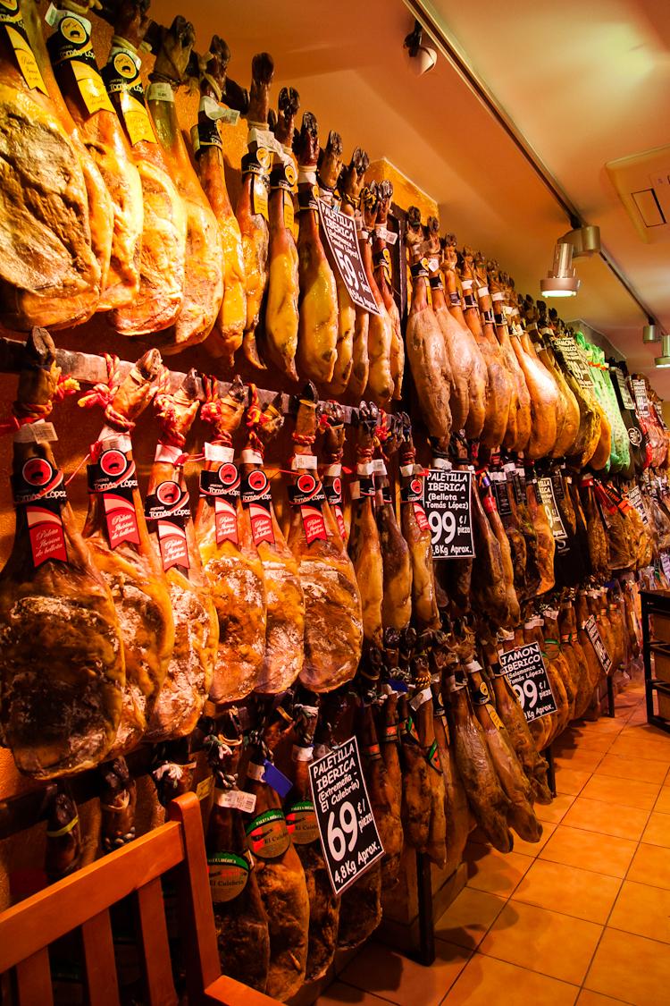 Jamon shop in Barcelona