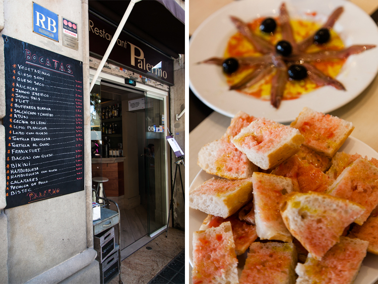 Tapas restaurant in Barcelona