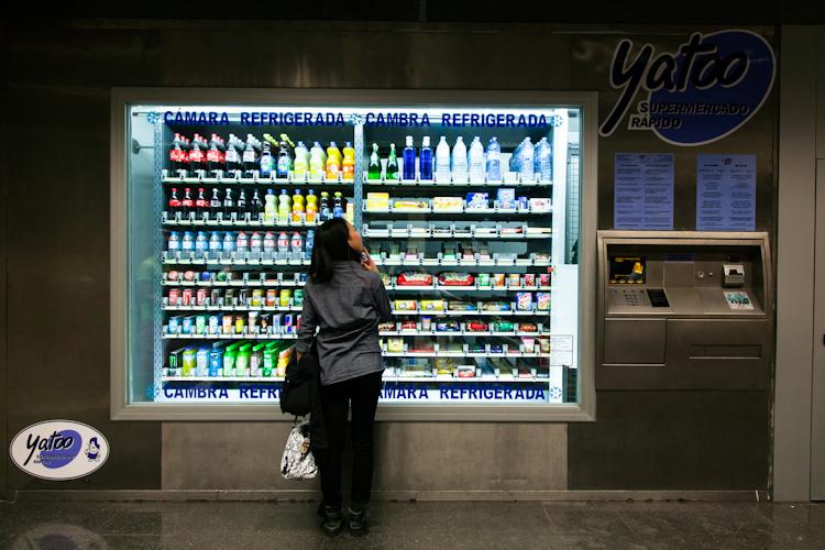 Enormous vending machine in Barcelona