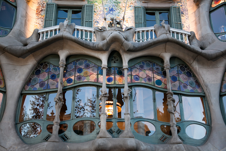 Large window at Casa Batlló in Barcelona
