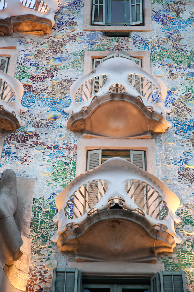 Balconies at Casa Batlló in Barcelona