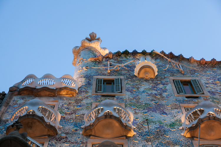 Exterior wall at Casa Batlló in Barcelona