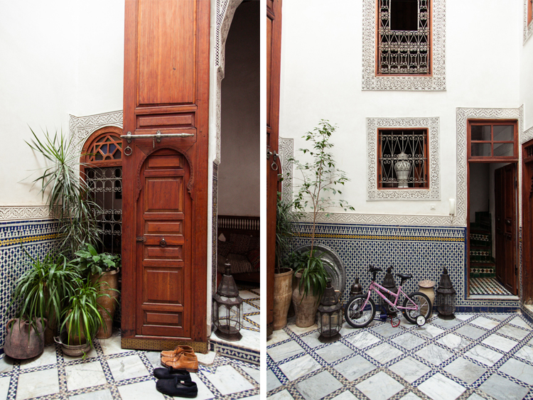 The courtyard of Dar El Menia Riad