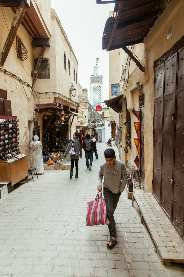 The narrow street of Talaa Kebira