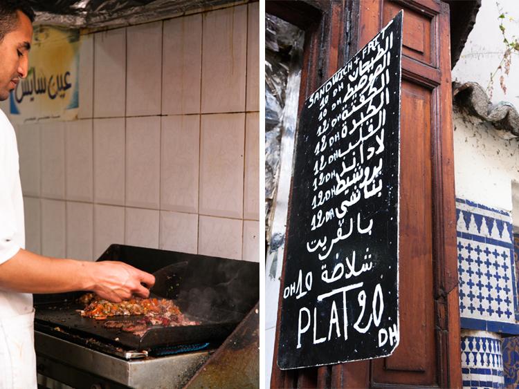 Moroccan sandwich shop, Talaa Seghira, Fes El Bali