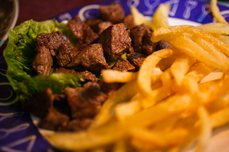 Beef and fries in Morocco