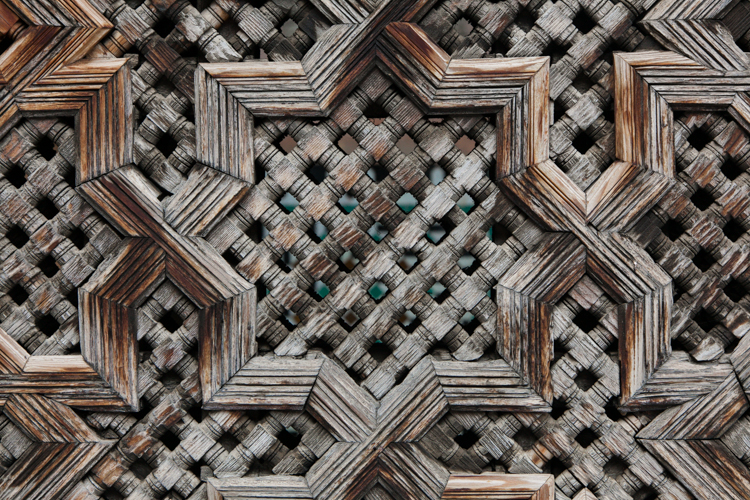 Intricate Moroccan wood work