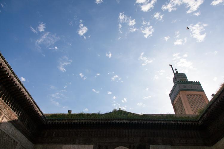 Minaret at Medersa Bou Inania
