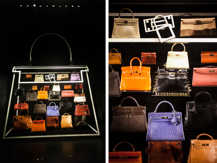 Hermes handbags at Leather Forever exhibit