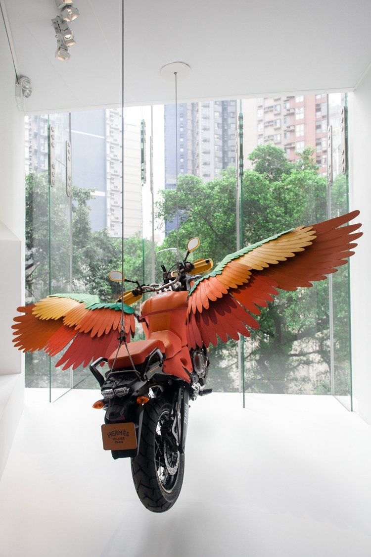 Hermes winged motorcycle