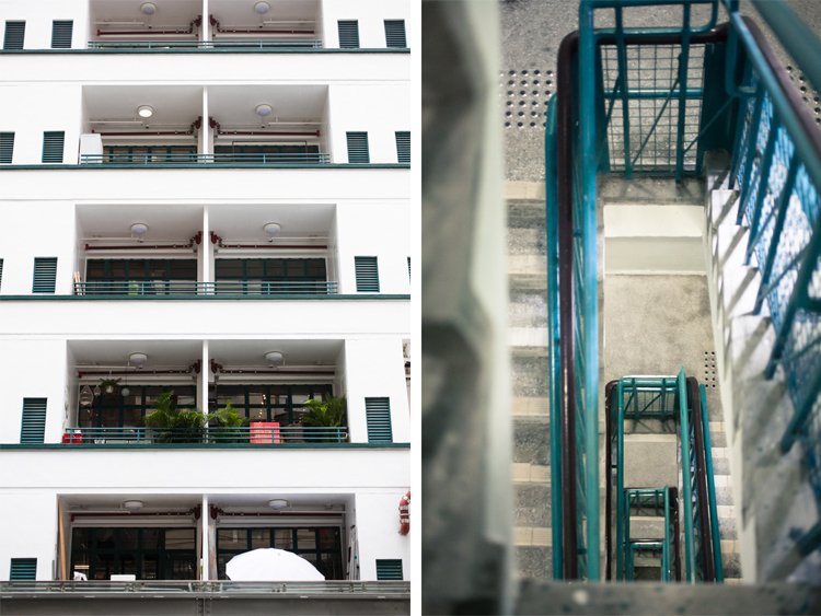 Architecture at PMQ: Balconies and stairs