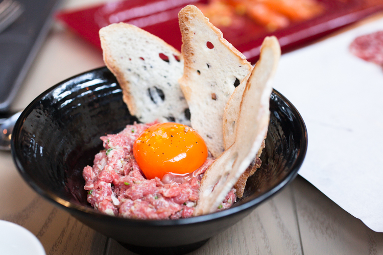Steak tartare at Isono Eatery & Bar, Hong Kong • Restaurant Photography