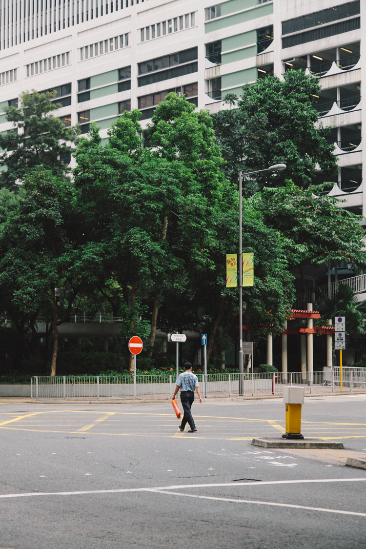 Empty Chater Road at Occupy Central in Hong Kong