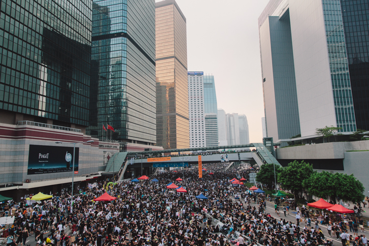Admiralty at Occupy Central in Hong Kong