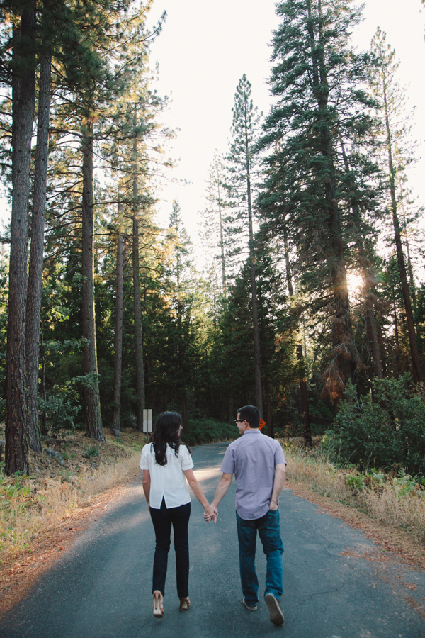 Long and winding road • Yosemite Engagement Photos