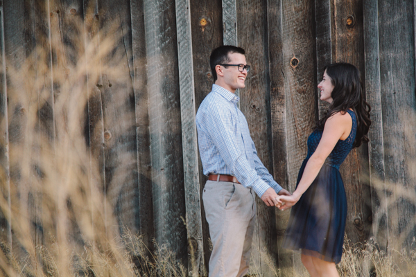 Engagement photos at a barn