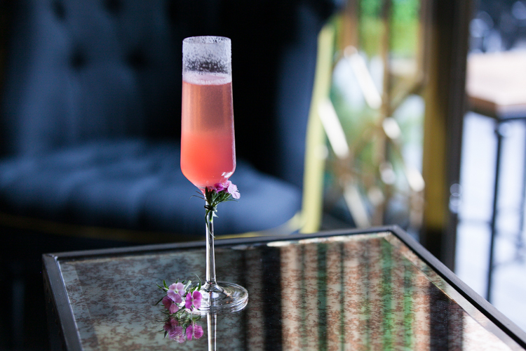 Pink Elderflower Sparkling Cocktail at Topiary Hong Kong
