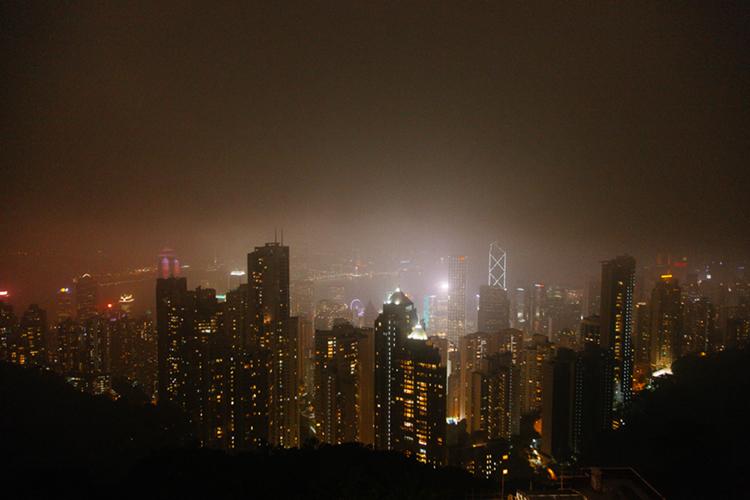 Foggy Victoria Peak, Hong Kong
