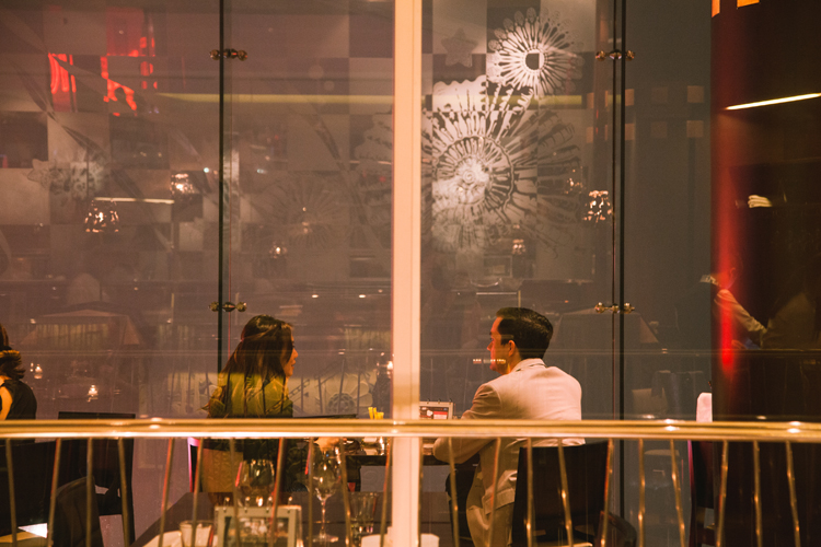 Couple at Cafe Deco, the Peak, Hong Kong