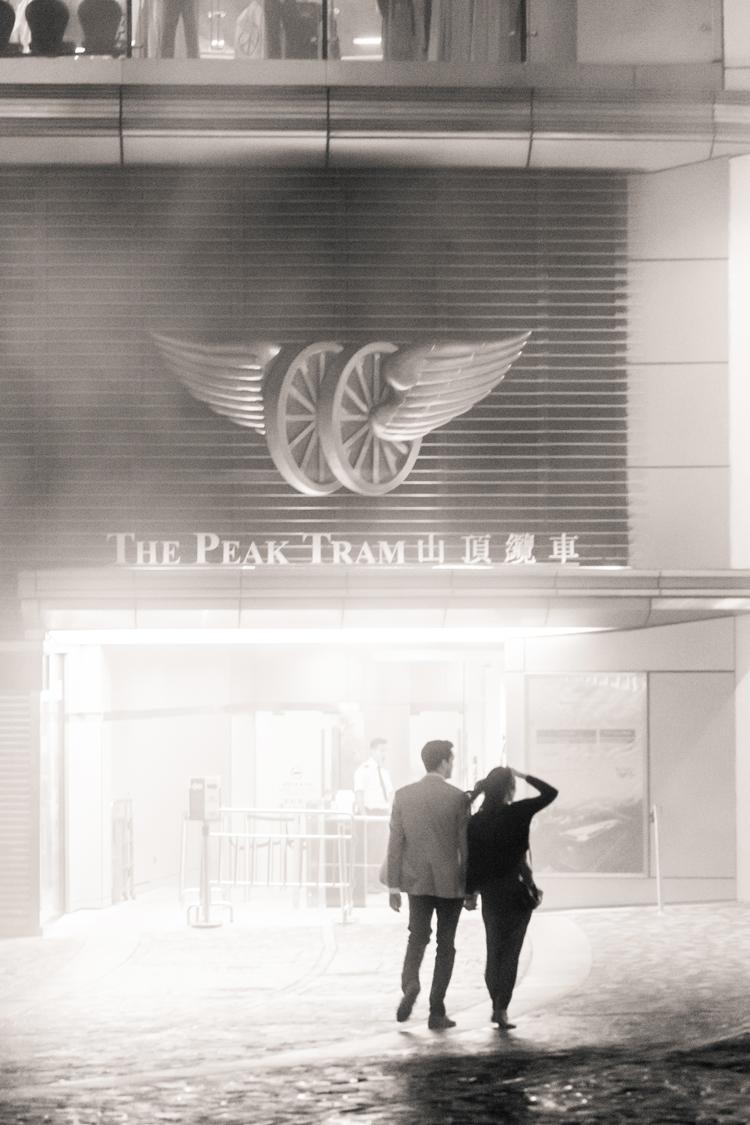 Hong Kong Peak Tram silhouette