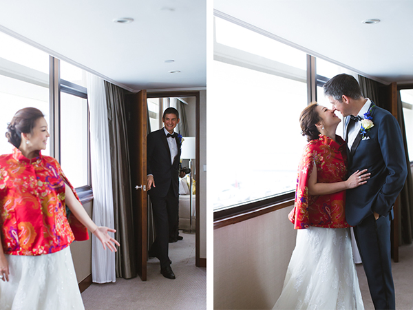 Couple's First Look | Chinese Wedding in Hong Kong