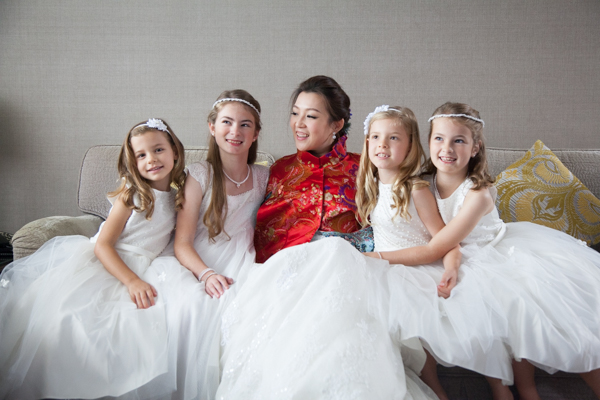Adorable! Bride and flower girls | By Tracy Wong, Hong Kong Wedding Photographer