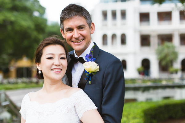 Wedding photo at Hullet House, Tsim Sha Tsui