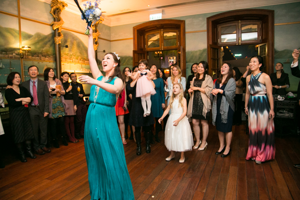 Bouquet Toss | Hullett House Wedding