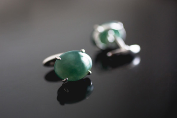Men's cufflinks in jade