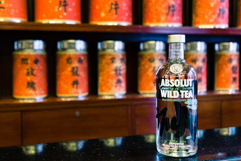 Tea shop and Absolut Hong Kong