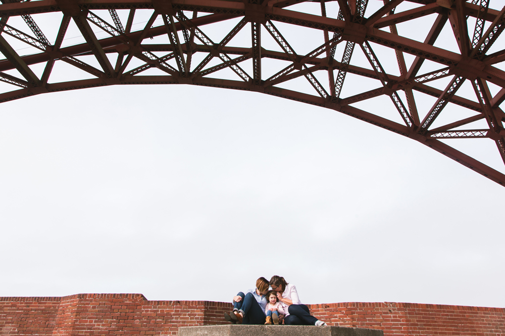 Under the Golden Gate Bridge • Fort Point • Family Portraits