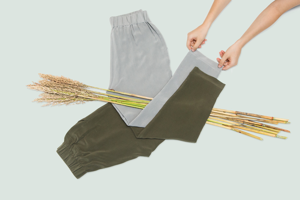 Grana Silk Pants – flat lay photography by Tracy Wong