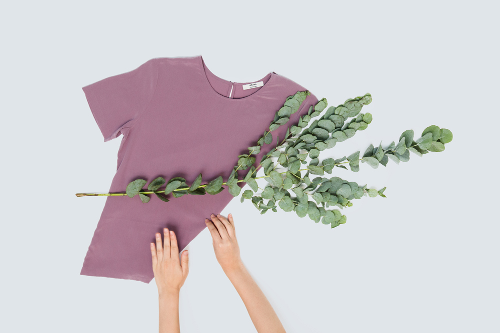 Grana Silk Top – flat lay clothing photography by Tracy Wong