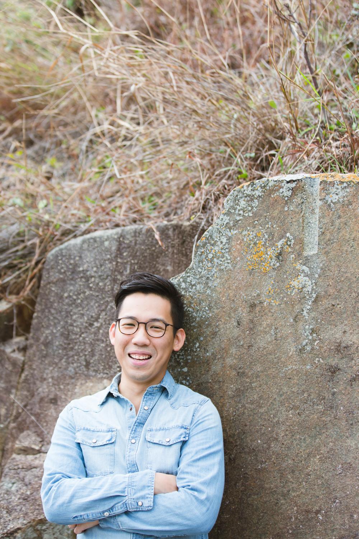 Laughing portrait taken outdoors • Hong Kong