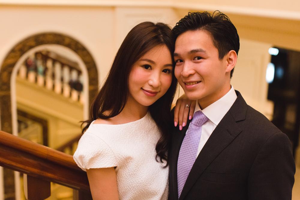 Couple's engagement portrait
