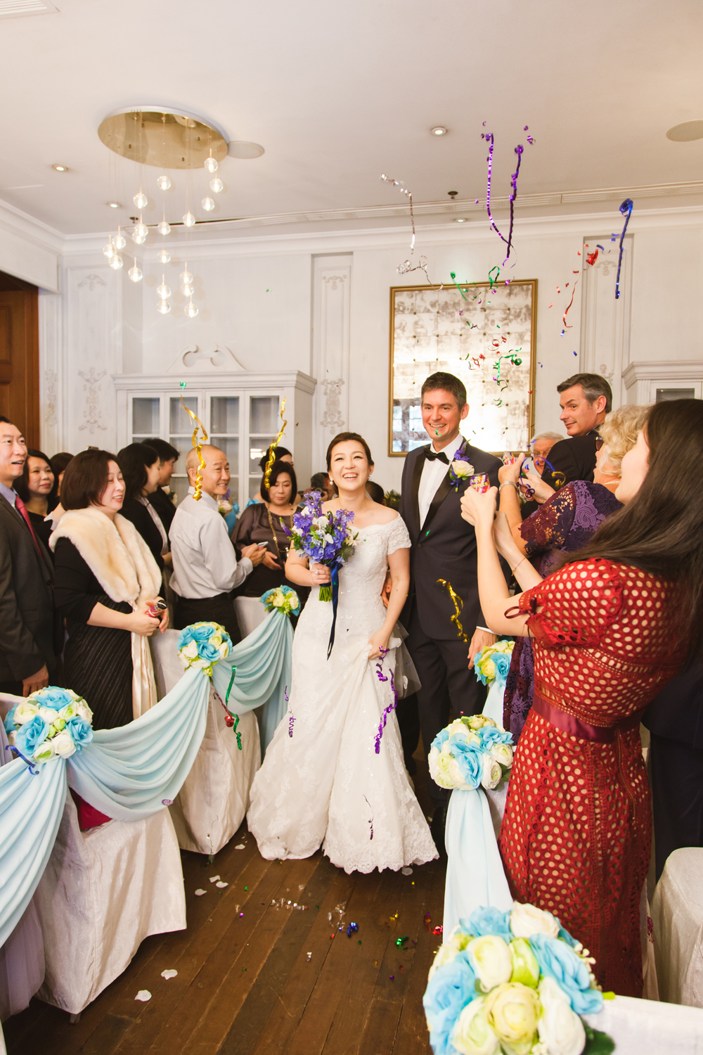 Wedding ceremony at Hullett House