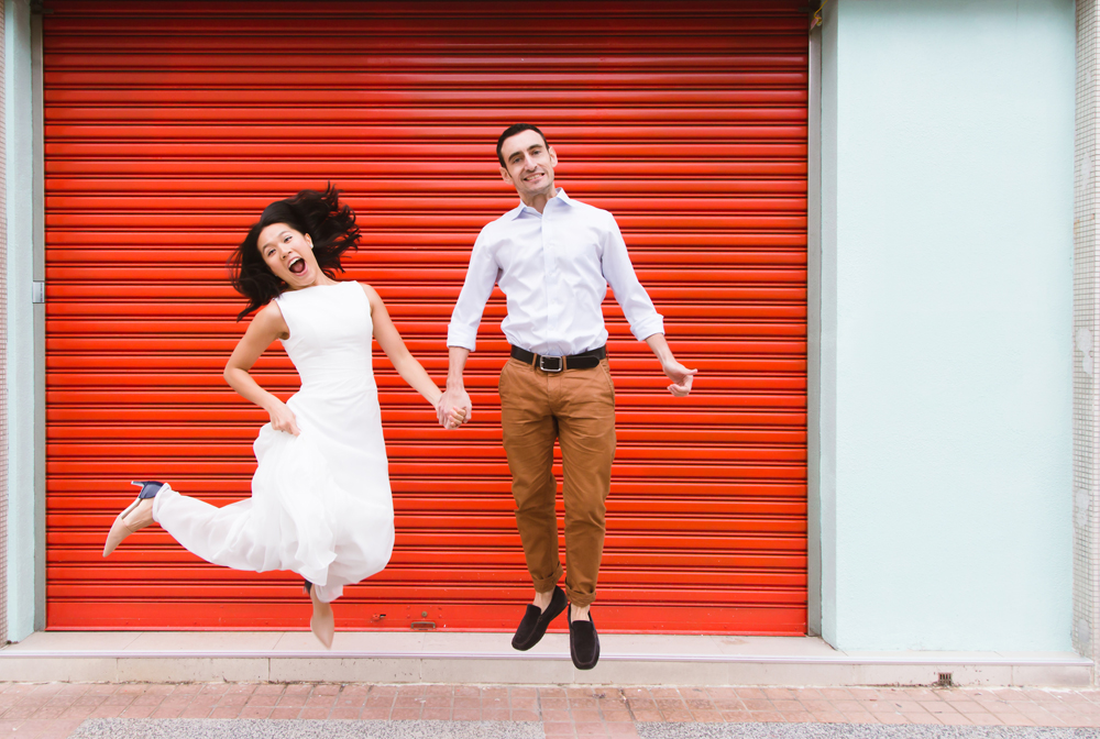 Jump! A playful engagement photography session