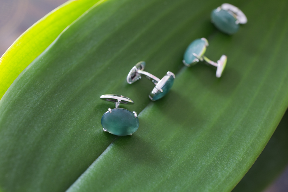Men's Cufflinks with Jade – TRACE modern jade jewelry