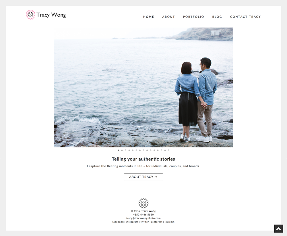 2017 website design – photographer portfolio in Hong Kong
