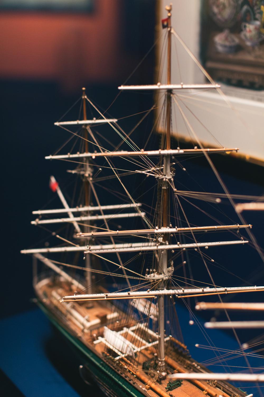 Ship model exhibit at Hong Kong Maritime Museum